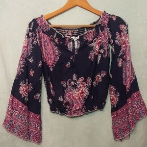 American Rag Cie Entry Bell Sleeve Top